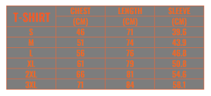 Caged-Steel-tshirt-Size-Chart